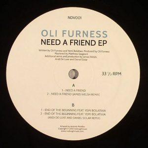 Oli Furness – Need A Friend EP (NDV)
