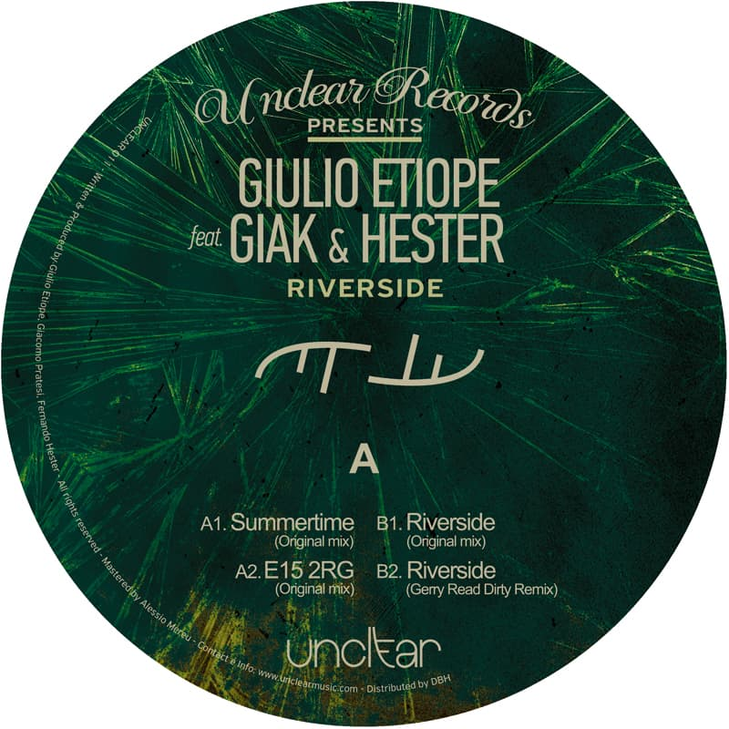 Giulio Etiope ft Giak & Hester - Riverside EP