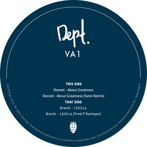 Denzel & Bravik – VA1 (inc. Fred P & Satoi Remixes) (DEPT 01)