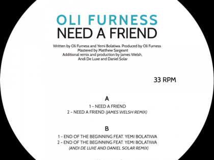 NDV 001 – Oli Furness – Need A Friend EP
